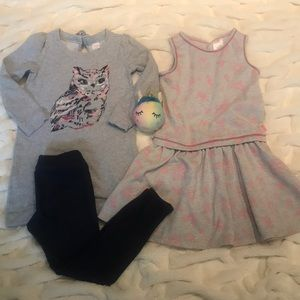 Disney Dress, Owl Dress and Jeggings all size 10